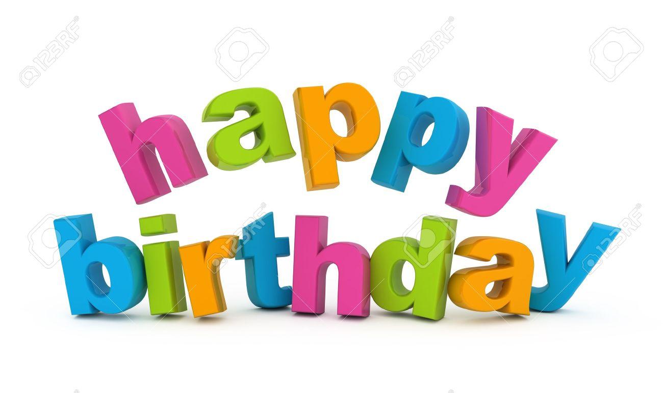 Gefeliciteerd Met Je Verjaardag Tekst Gea Soleerd Op Wit Royalty