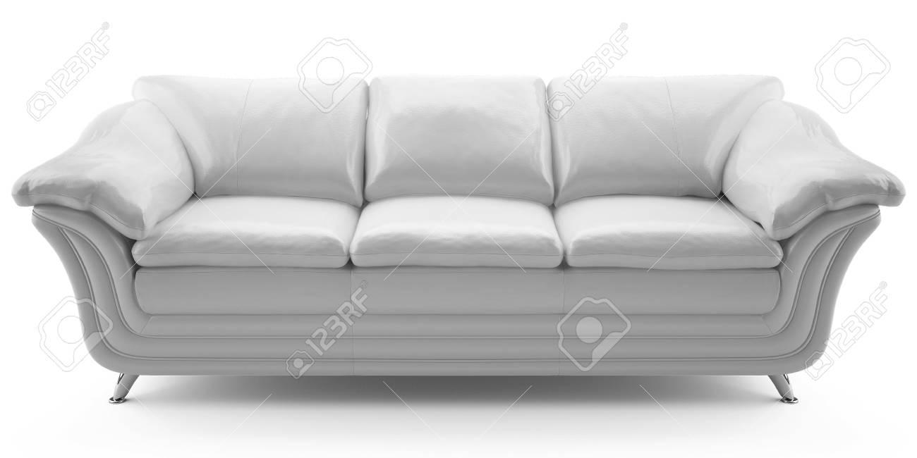This 3D image  white leather sofa Stock Photo - 6790264