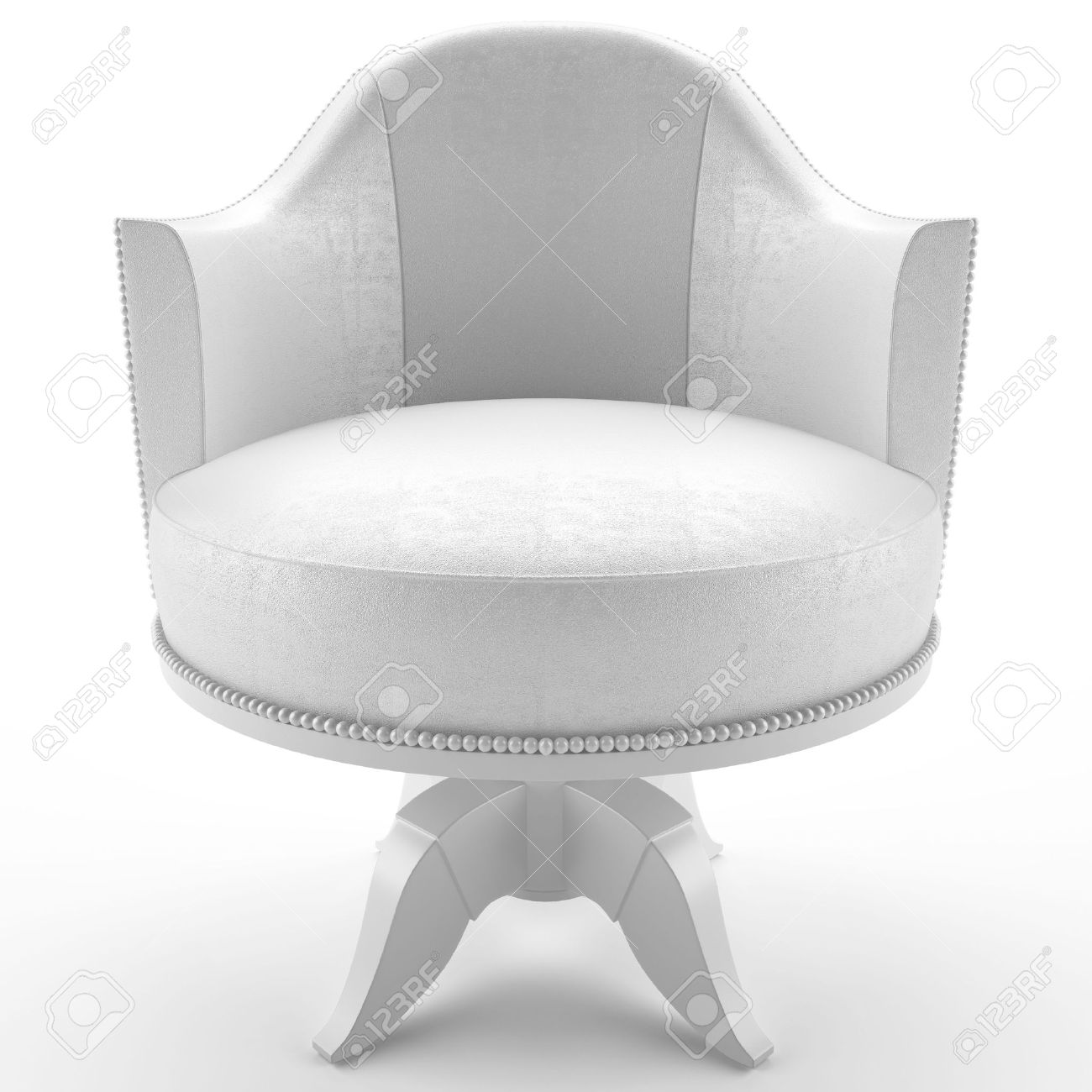 This 3D image white leather armchair Stock Photo - 6790300