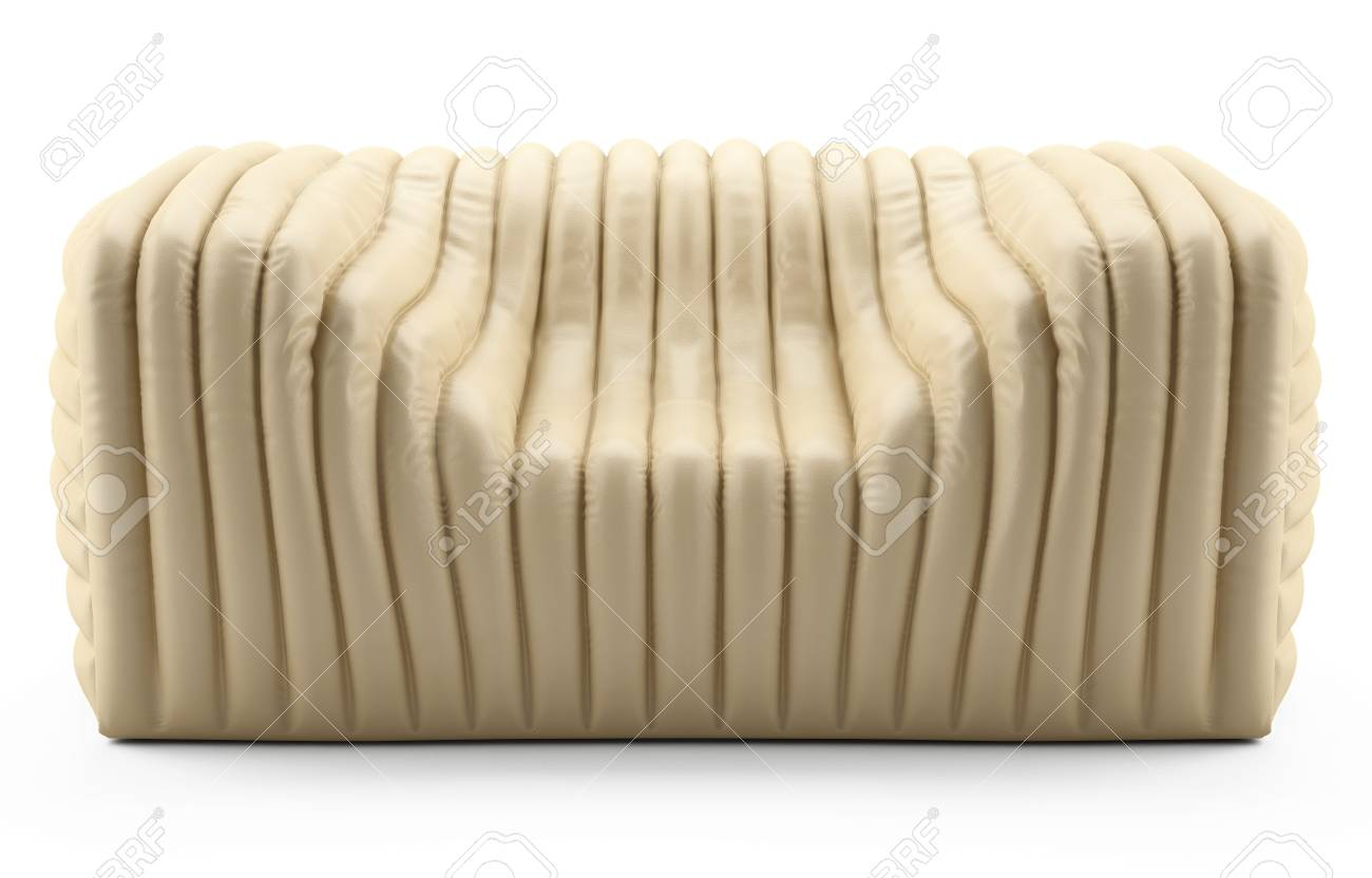 wave cream armchair leather Stock Photo - 12672725