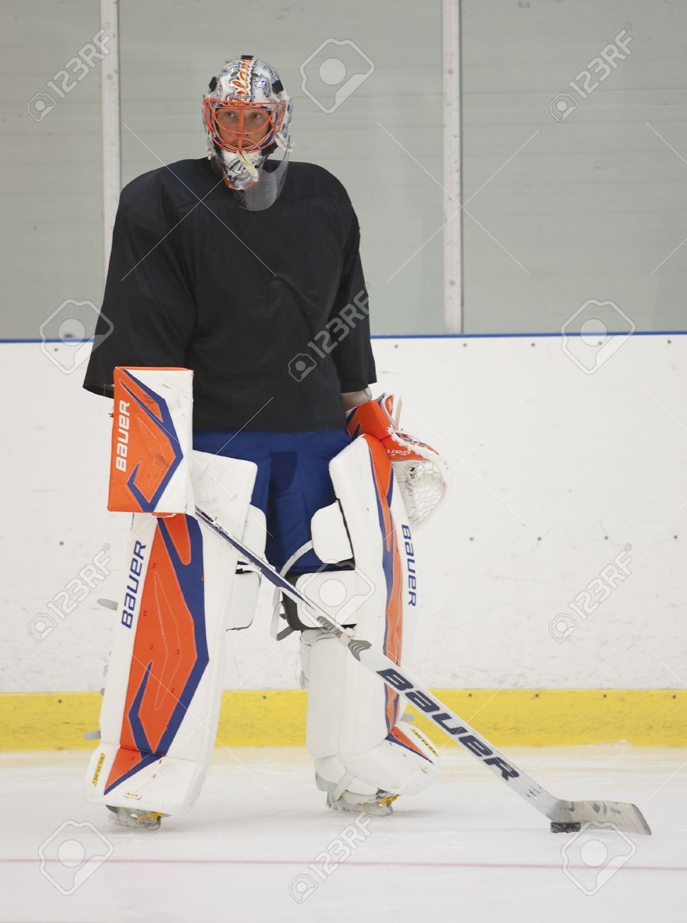 Anders Nilsson - New York Islanders - Summer camp in Sweden for ice hockey goalies (2012-06-27 to 2012-06-30). Stock Photo - 14339010