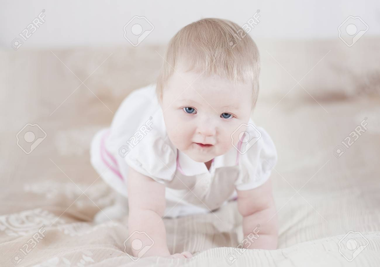 Cute baby having fun Stock Photo - 18204520