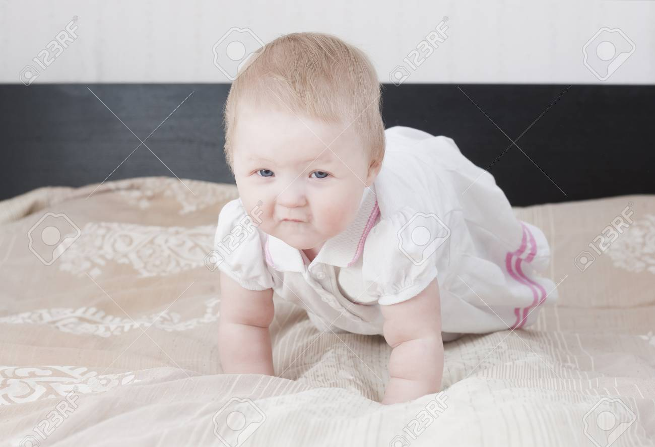Cute baby having fun Stock Photo - 18204552