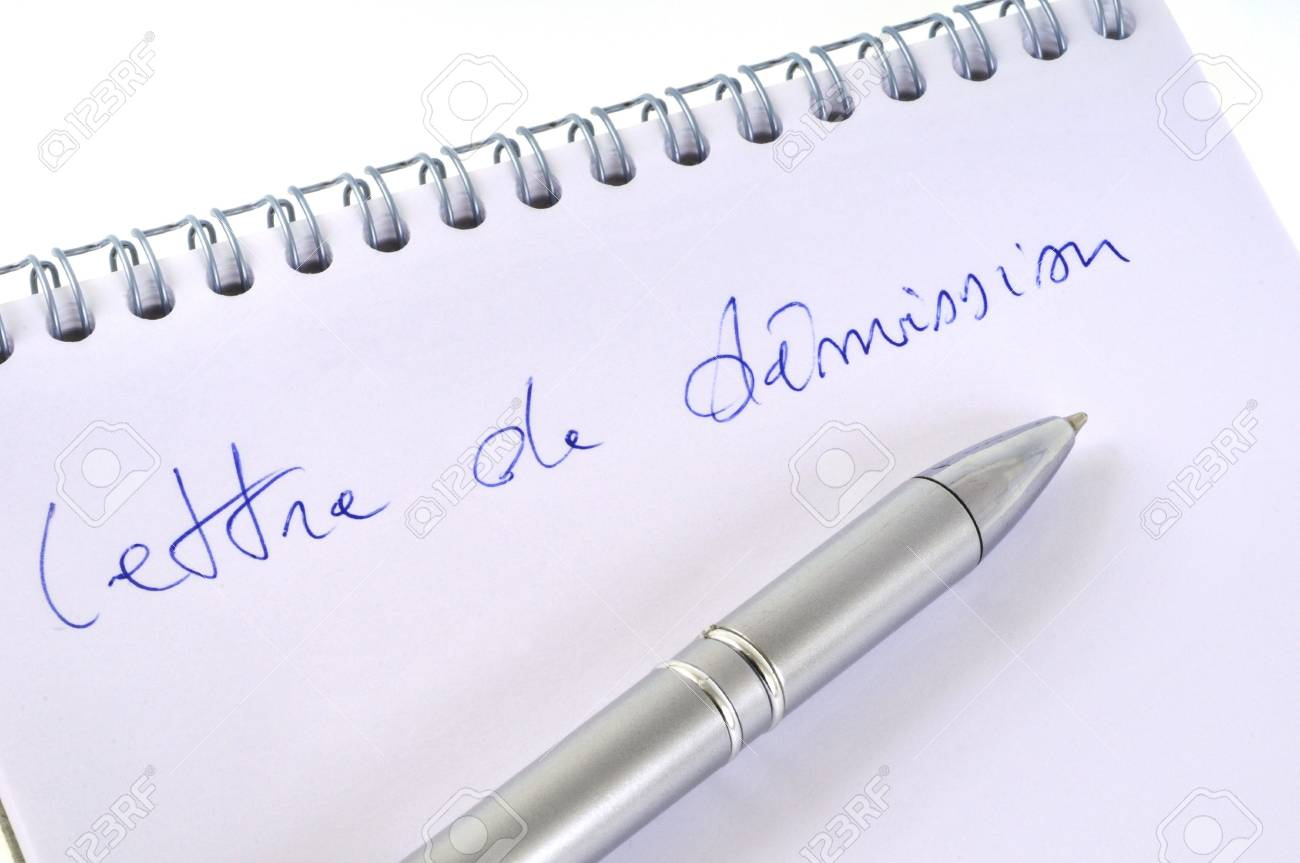 Draft Letter Of Resignation Stock Photo, Picture And Royalty Free ...