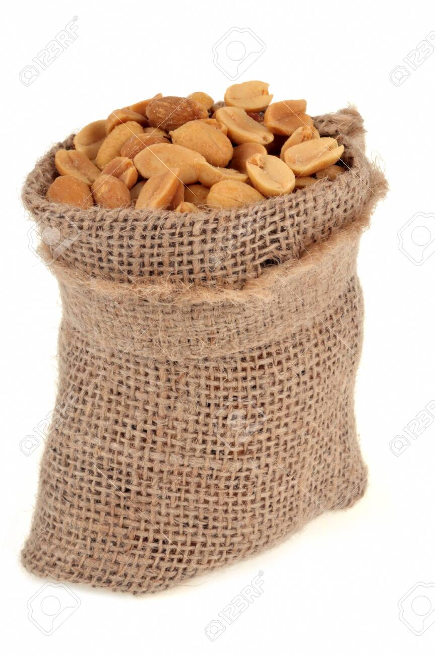 120275289-canvas-bag-of-peanuts-on-a-whi