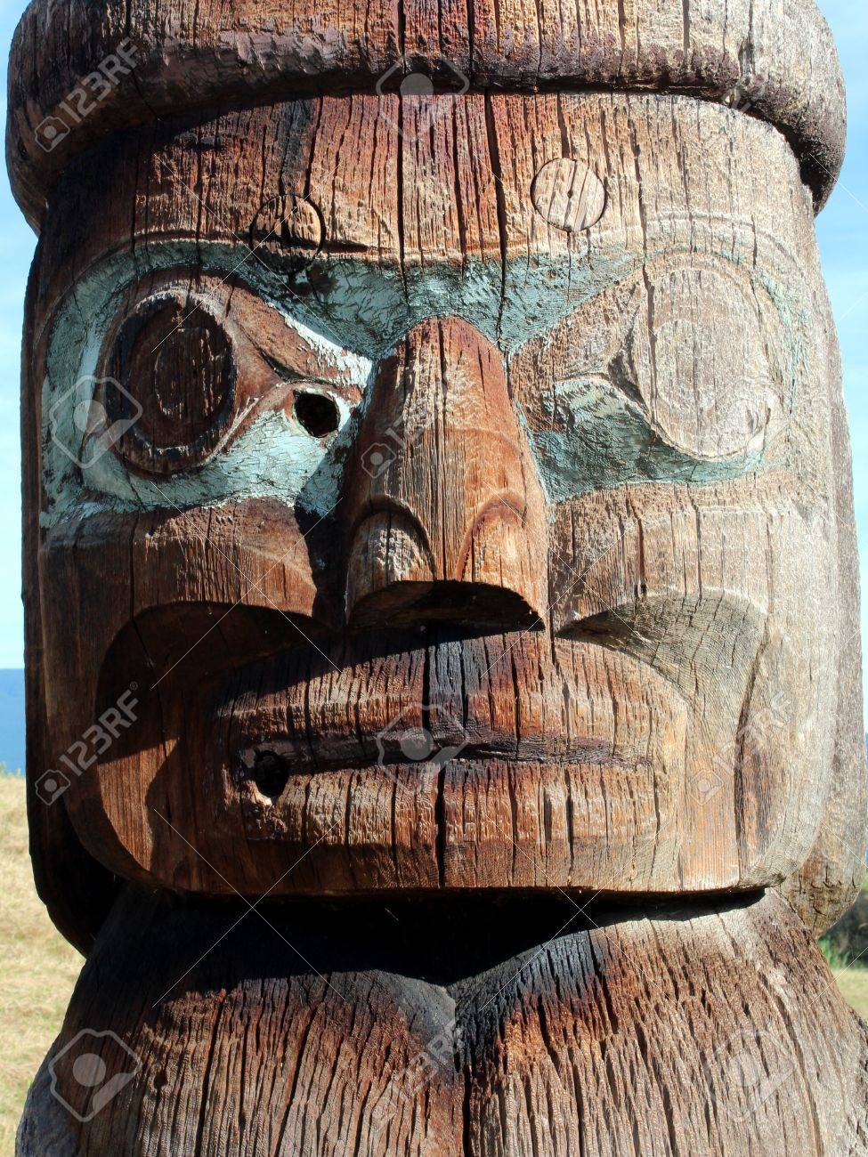 Haida pole carving stock photo edit now  shutterstock