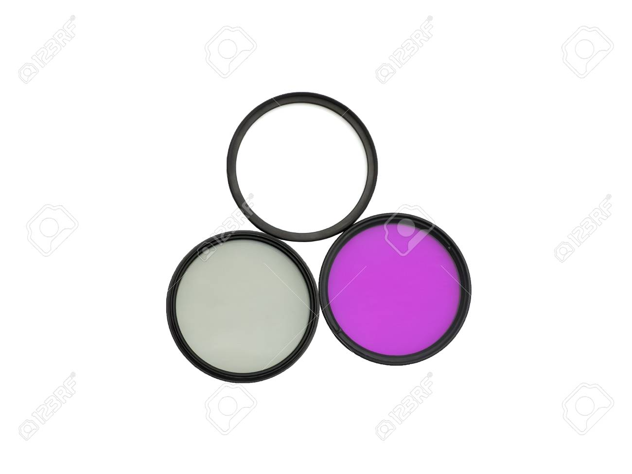 Three photographic filters for digital camera: UV, FLD and CPL - 30567296
