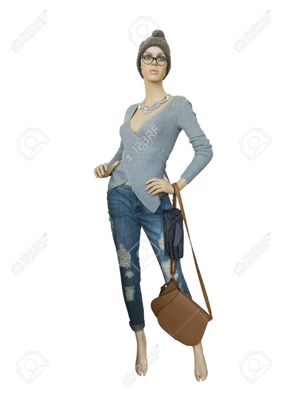 Pantalones Maniquí De Y Larga Chaqueta Mujer Duración Vistiendo 0nAZTqHw