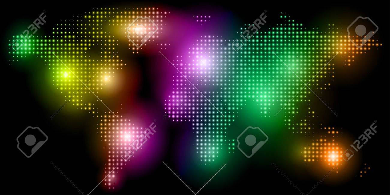 Dotted world map for print, web and business presentations Stock Vector - 9134897