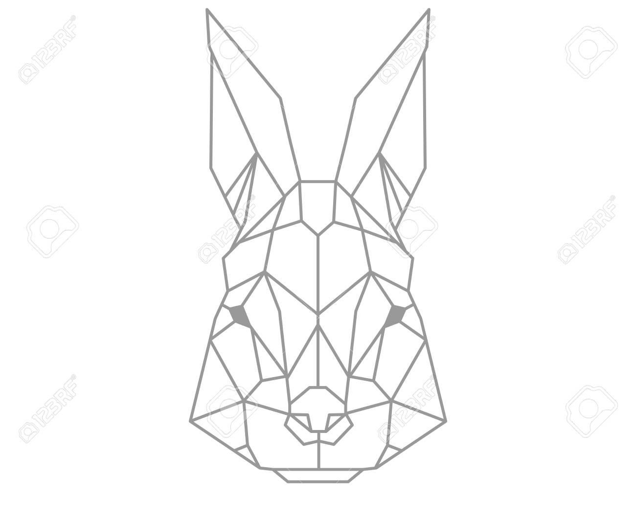 Polygonal Rabbit Stock Vector