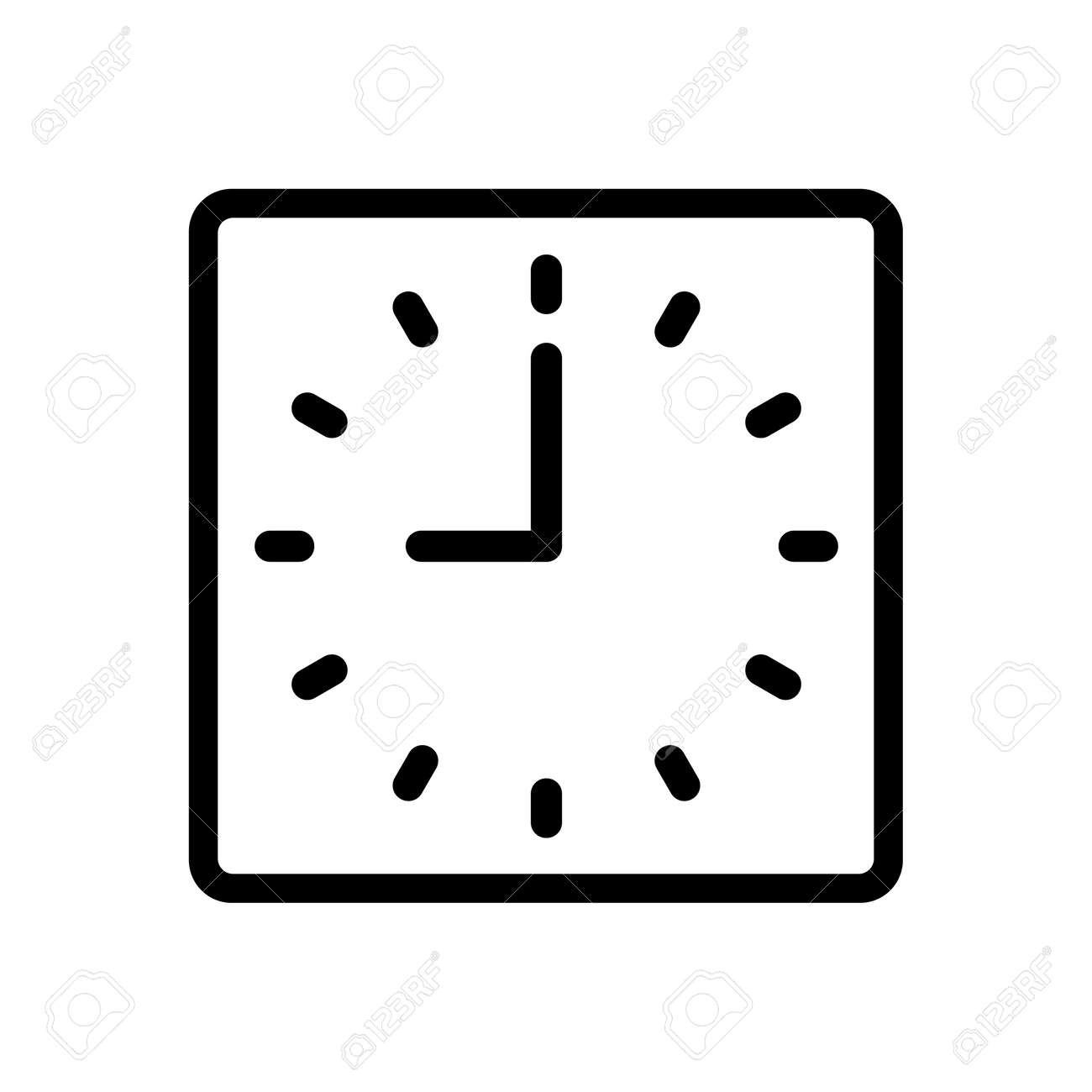 Watch dial on a white background. Vector isolated illustration icon - 168730495