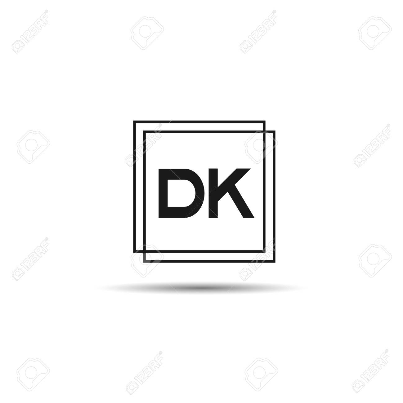 Initial Letter DK Logo Template Design - 108067326