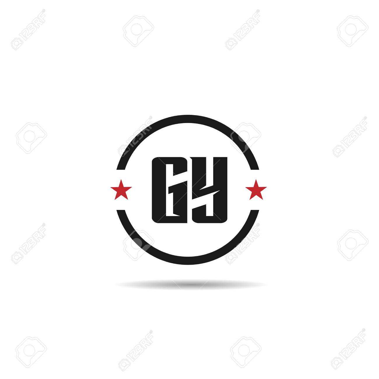 Initial Letter GY Logo Template Design - 110193172
