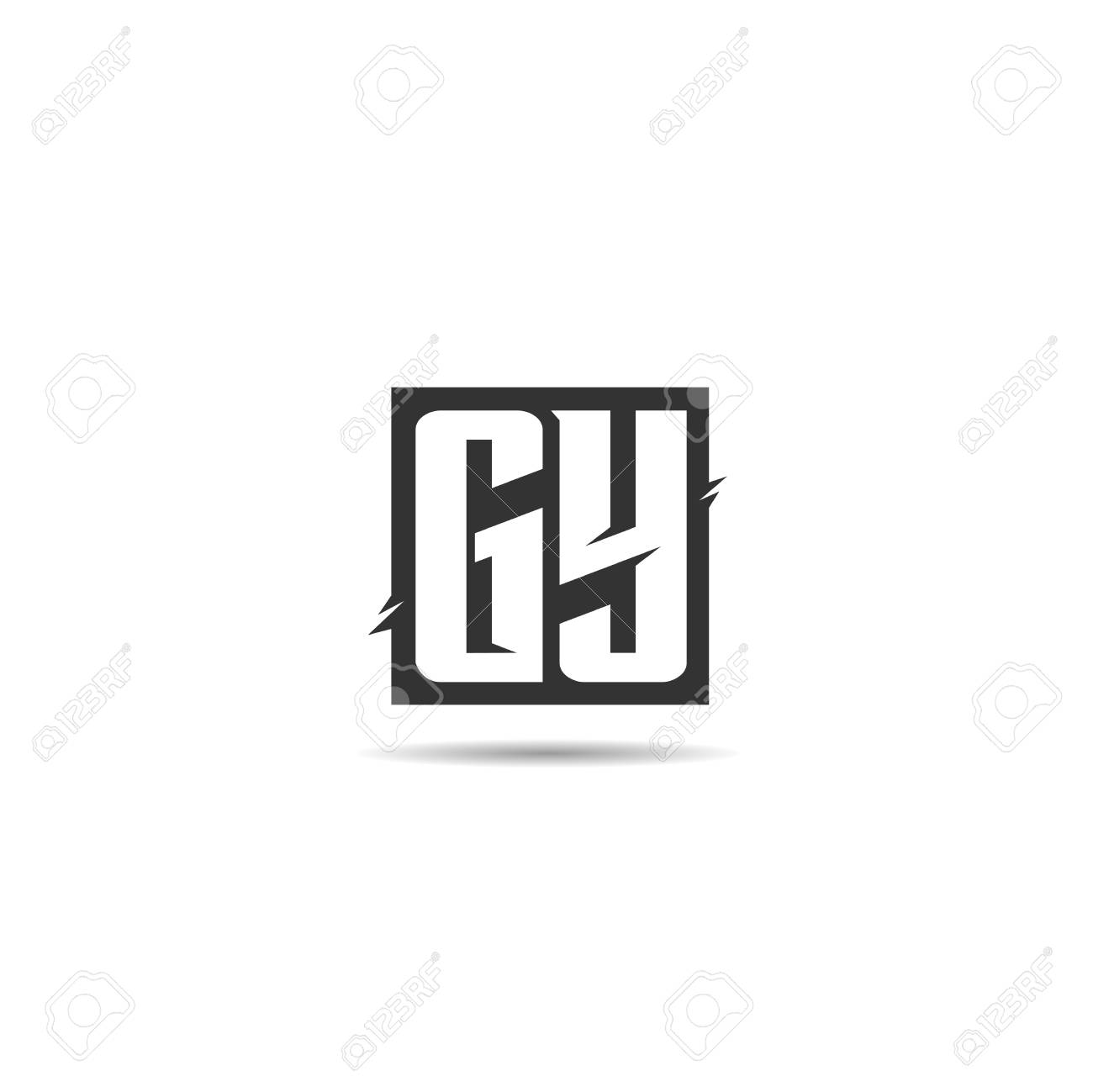 Initial Letter GY Logo Template Design - 125496157