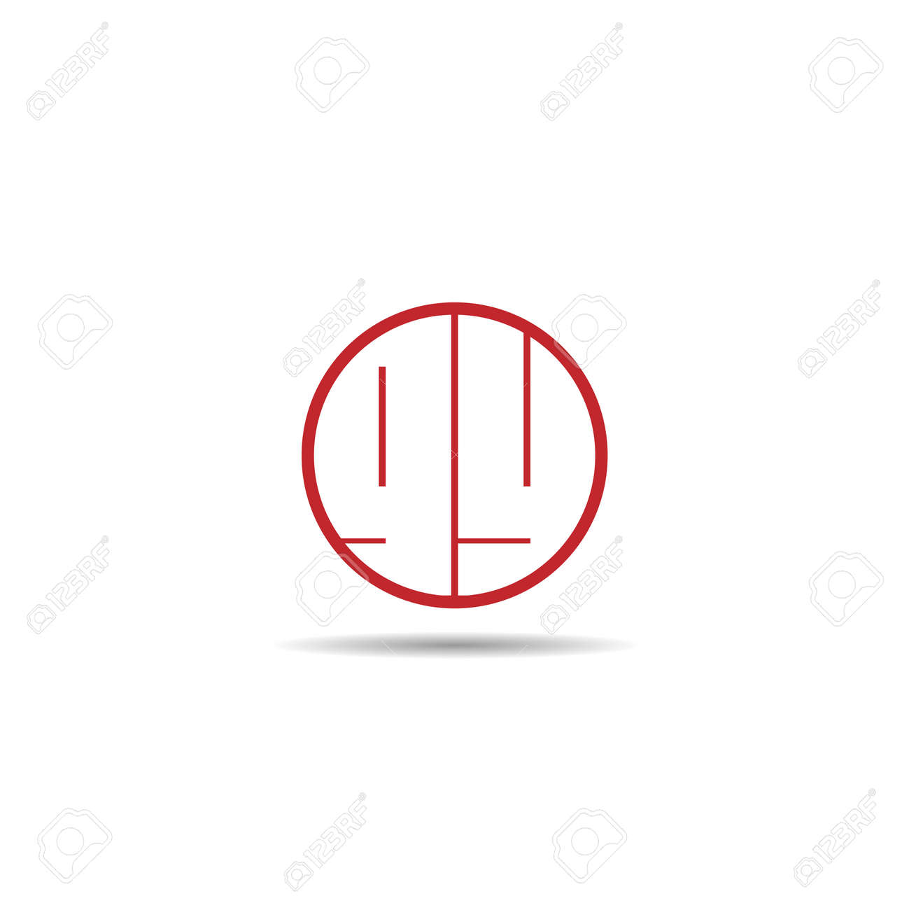 Initial Letter GY Logo Template Design - 125496274