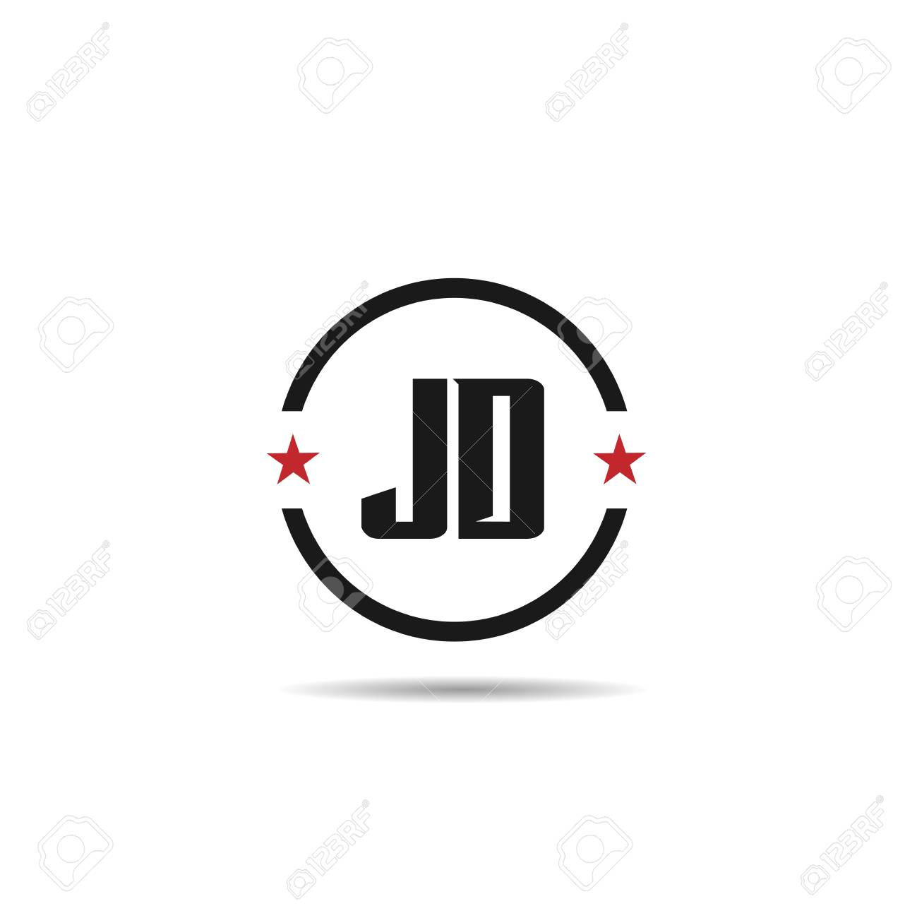 initial letter jd logo template design royalty free cliparts vectors and stock illustration image 109594761 initial letter jd logo template design