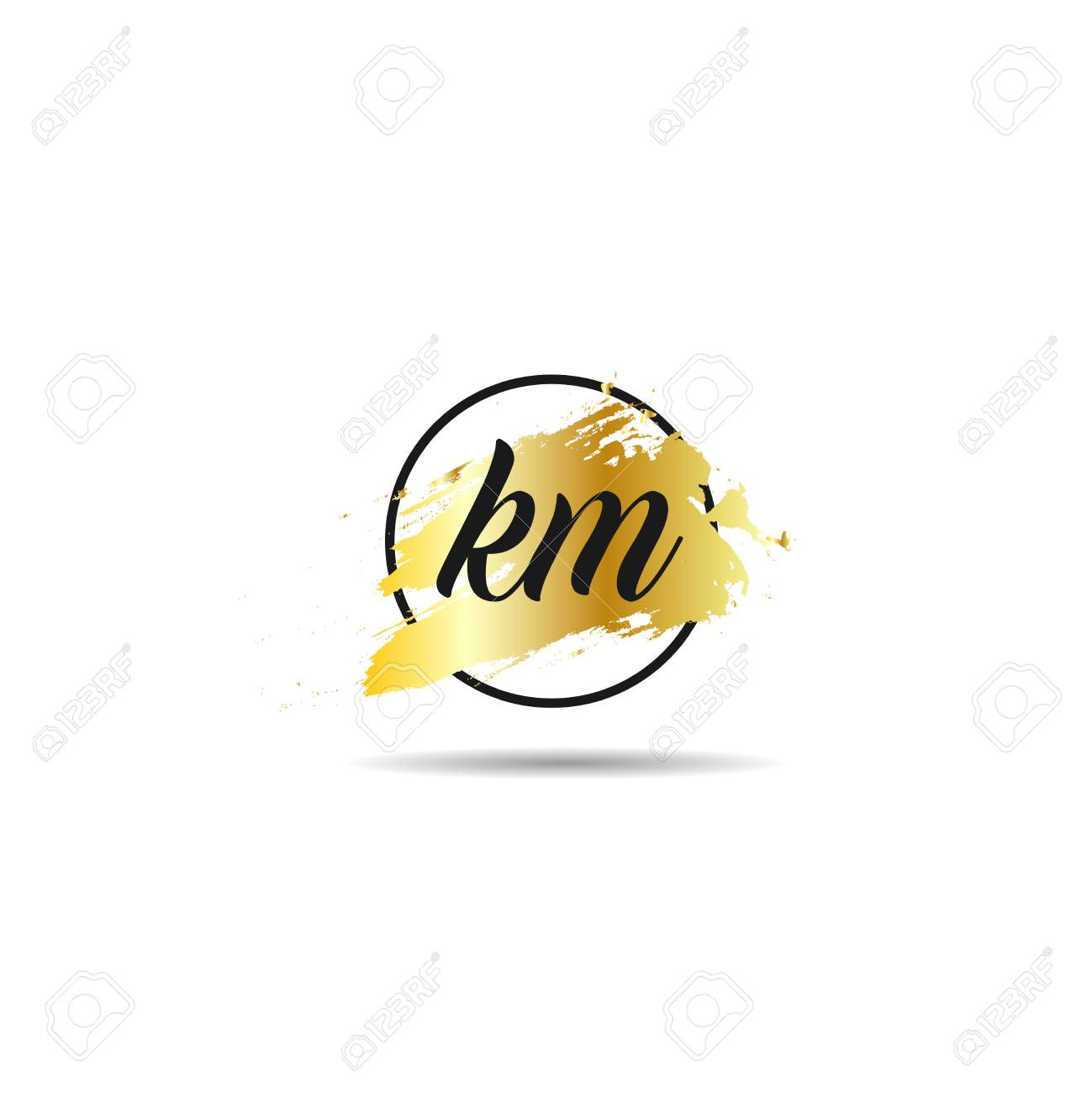 Initial Letter Km Logo Template Design Royalty Free Cliparts Vectors And Stock Illustration Image 109595516