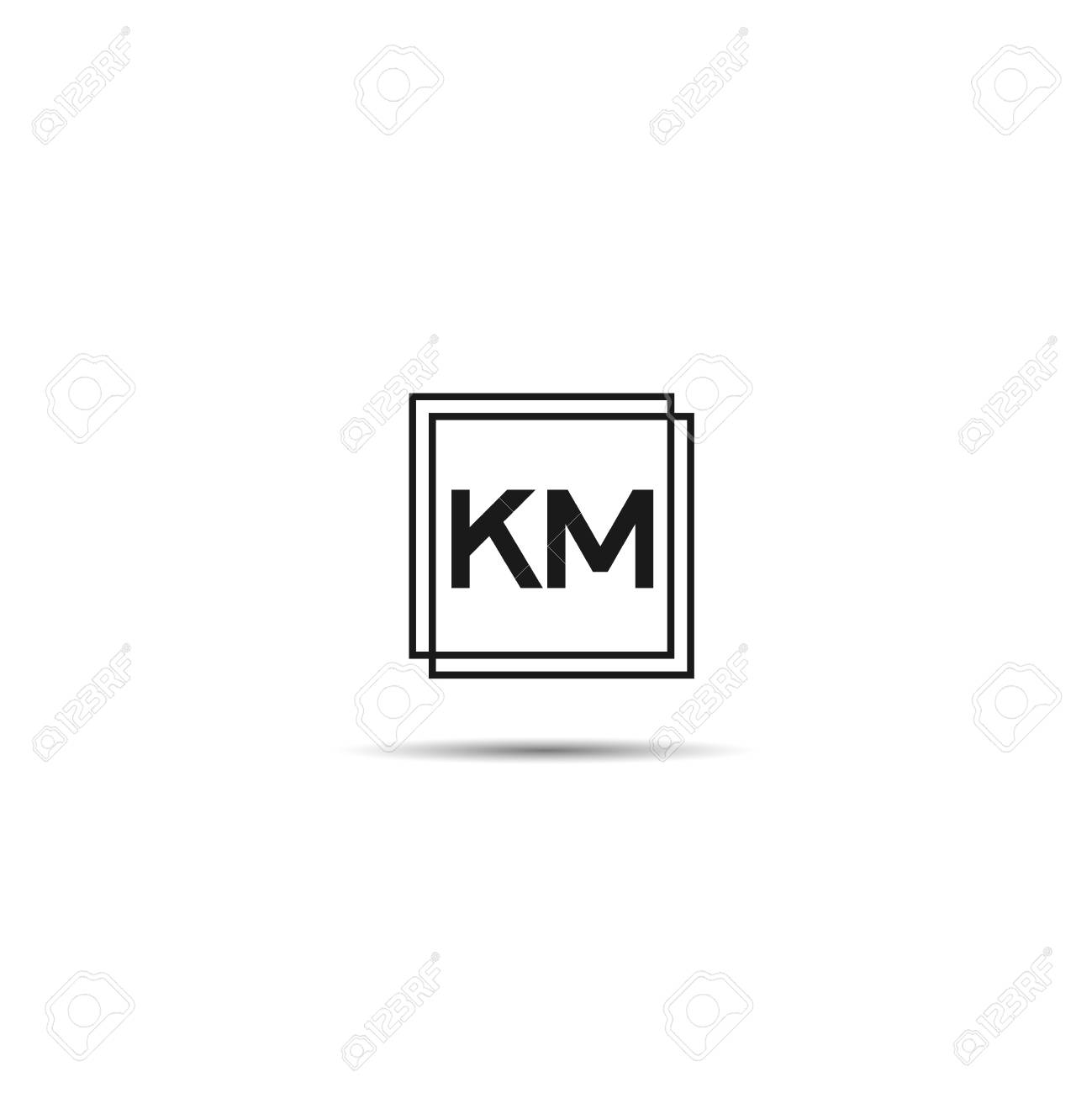 Initial Letter Km Logo Template Design Royalty Free Cliparts Vectors And Stock Illustration Image 109595618