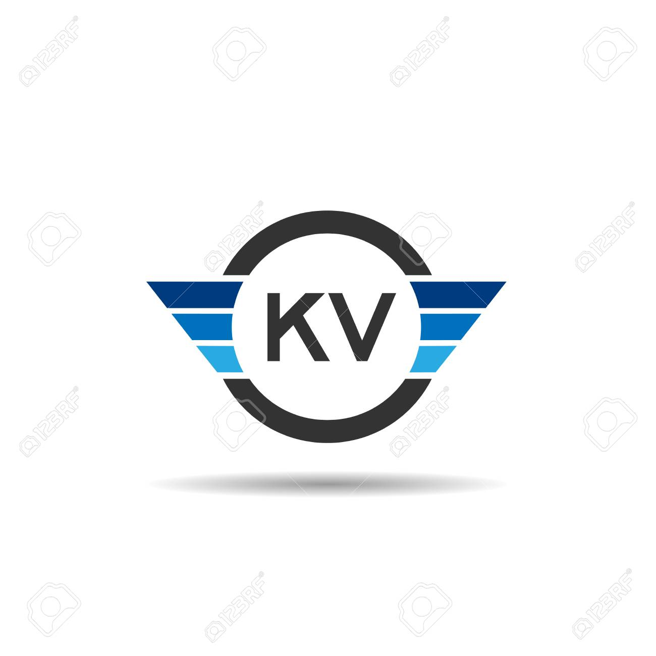 Initial Letter Kv Logo Template Design Royalty Free Cliparts Vectors And Stock Illustration Image 109595662