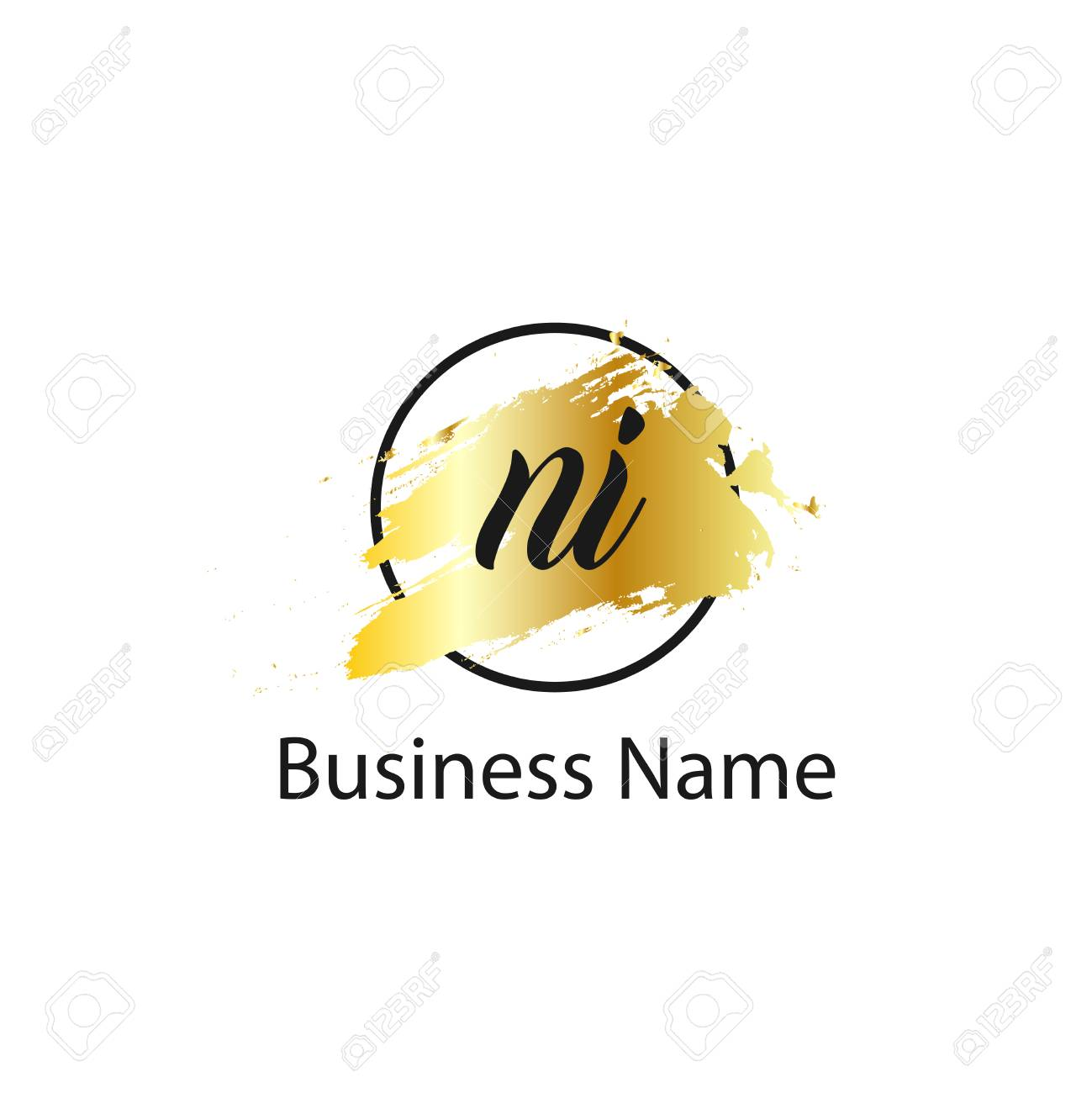 Initial Letter NI Logo Template Design - 109604914
