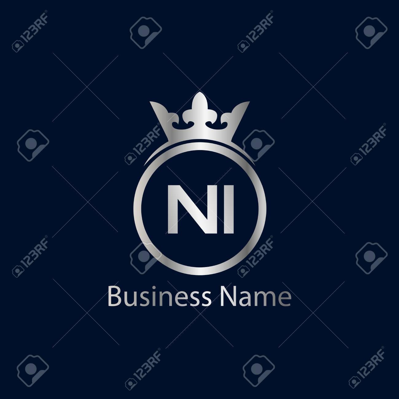 Initial Letter NI Logo Template Design - 109604930