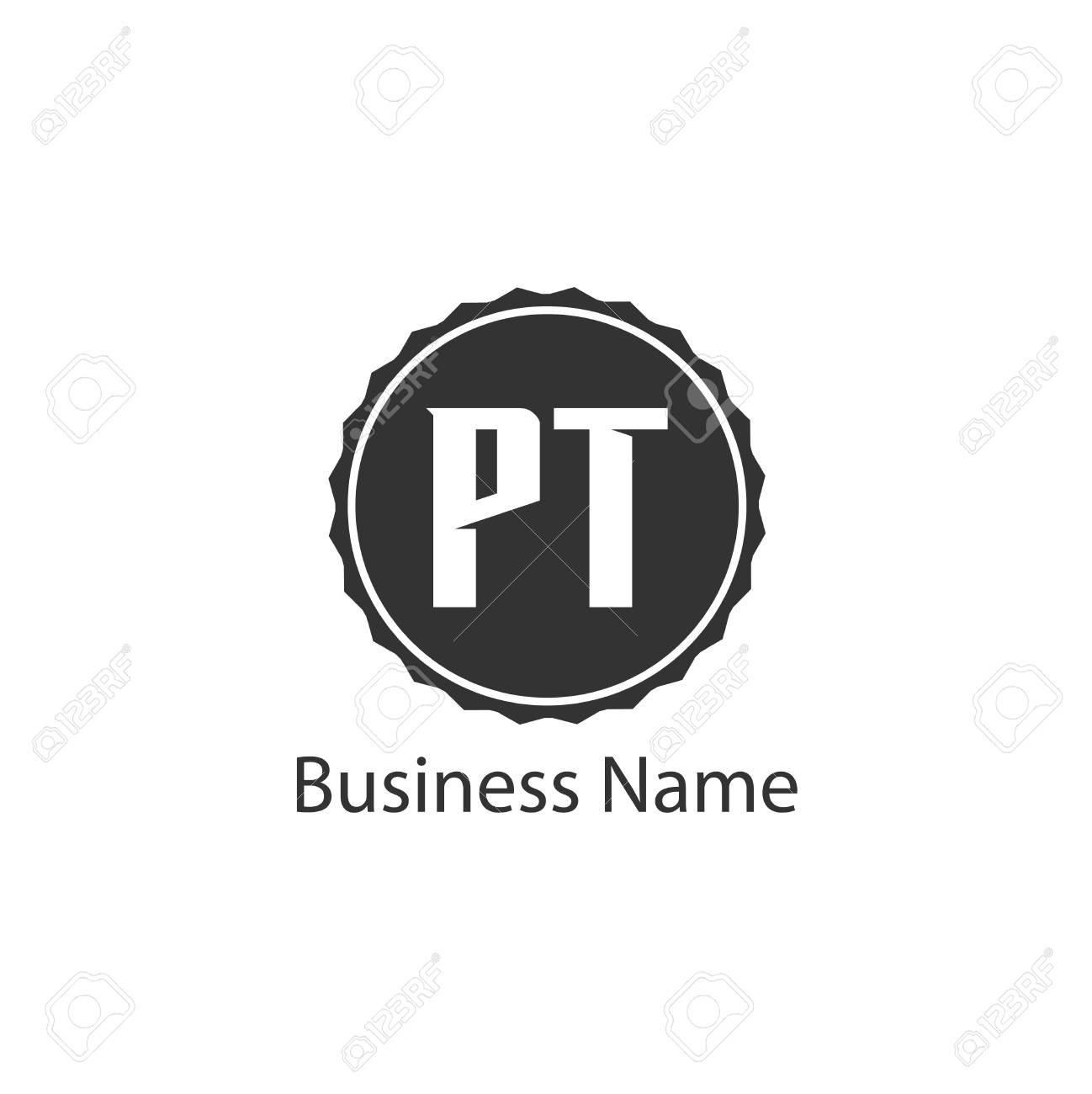 initial letter pt logo template design royalty free cliparts