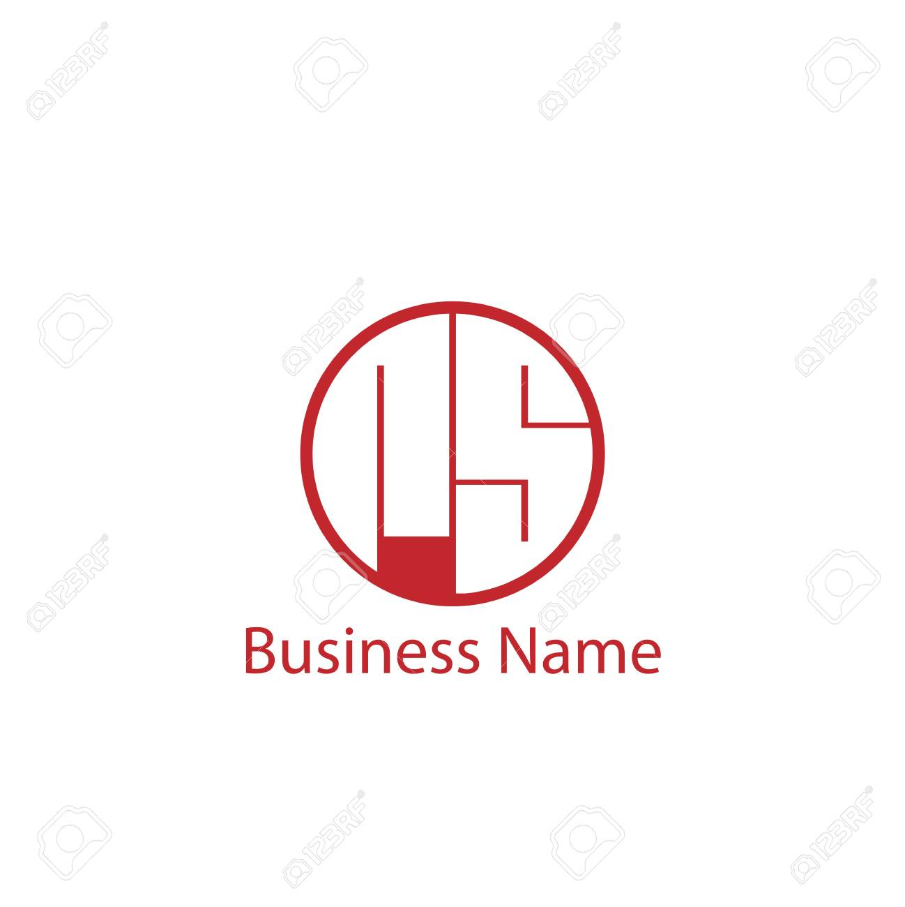 Initial Letter RS Logo Template Design - 110260037