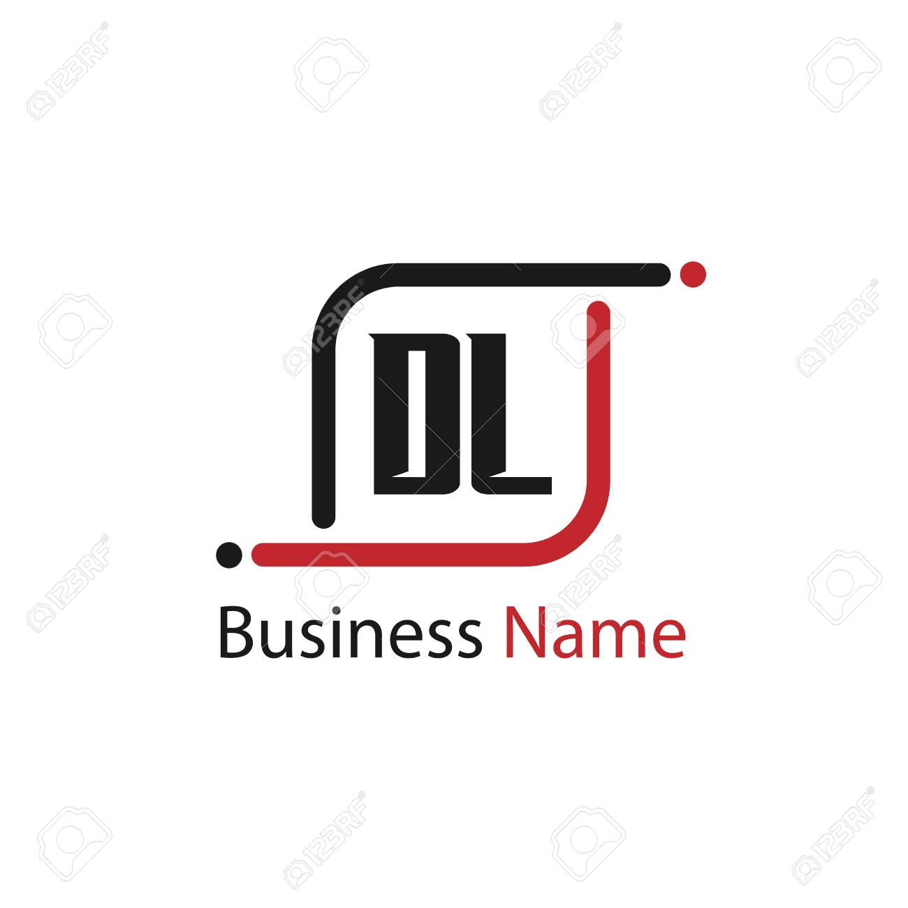 Initial Letter Dl Logo Template Design Royalty Free Cliparts Vectors And Stock Illustration Image 110733370