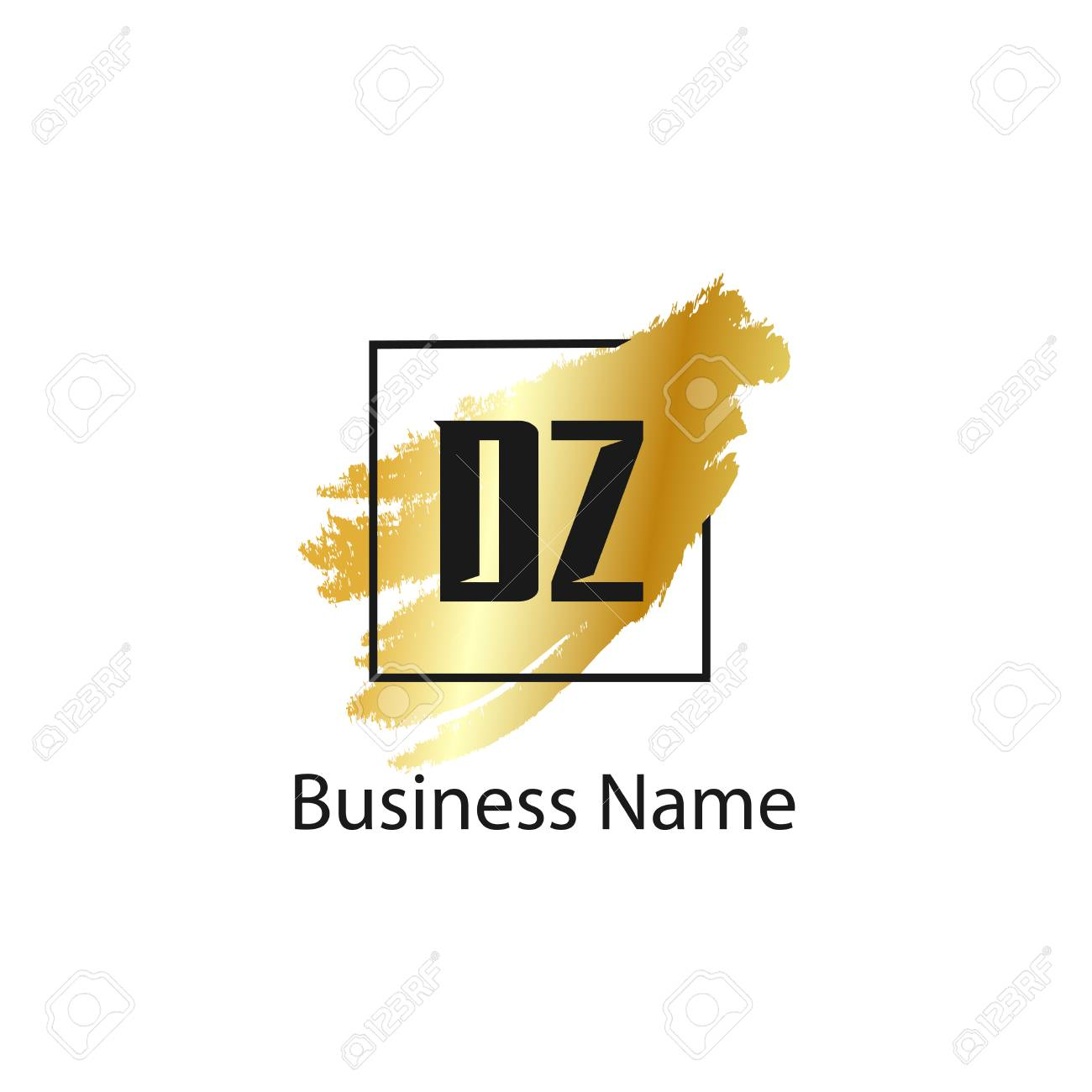 Initial Letter DZ Logo Template Design