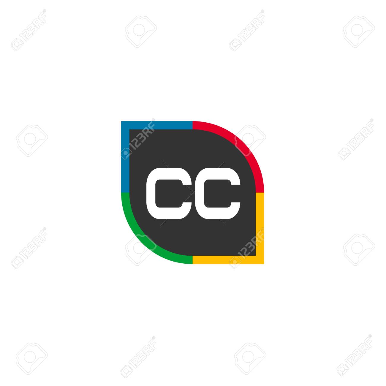 initial letter cc logo template design royalty free cliparts