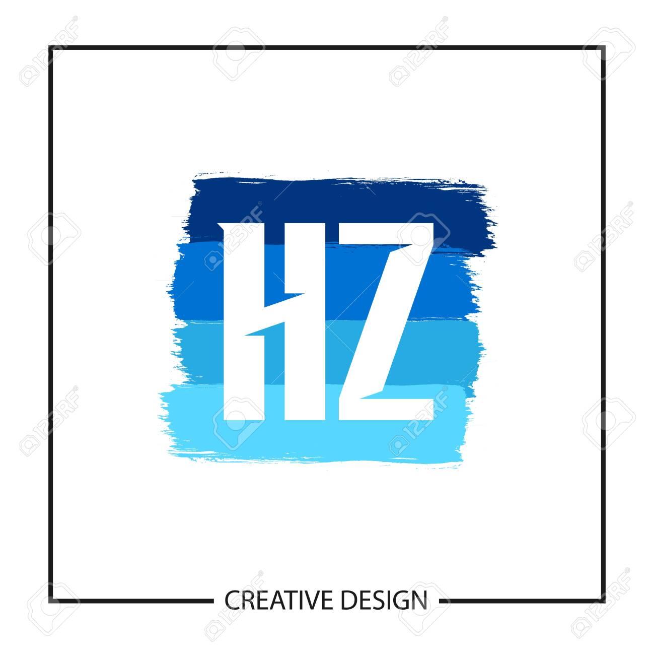 Initial Letter HZ template Design Vector Illustration - 118737596
