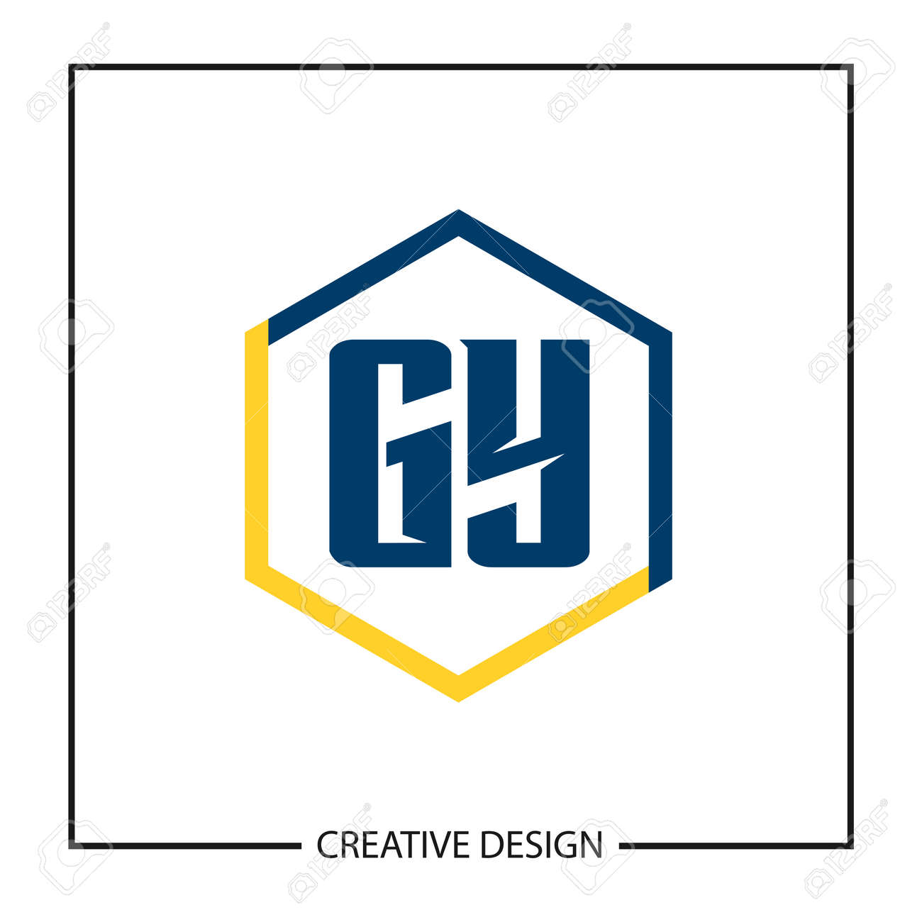 Initial Letter GY Template Design Vector Illustration - 118839479