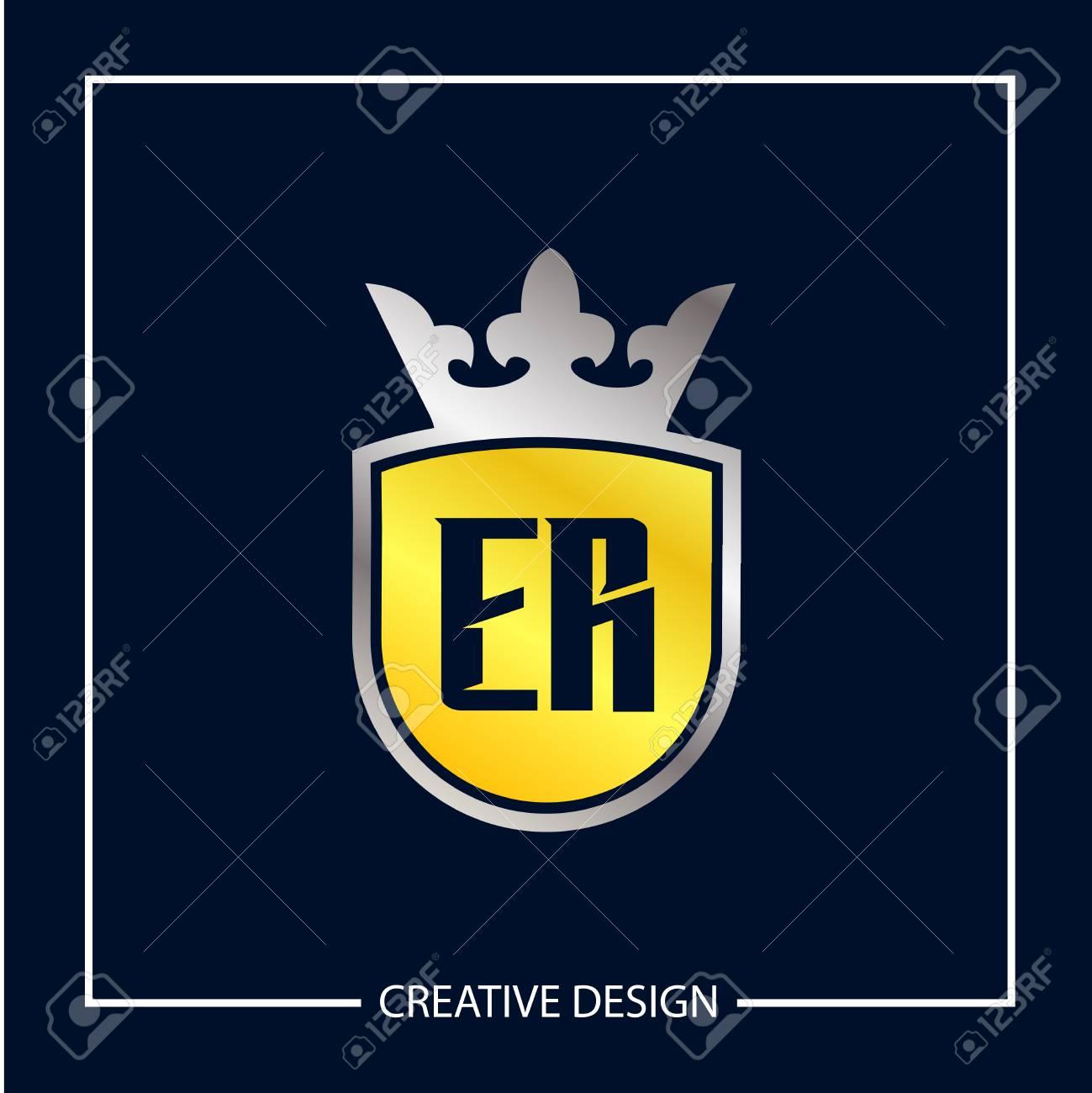 Initial Letter ER Template Design Vector Illustration - 119548934