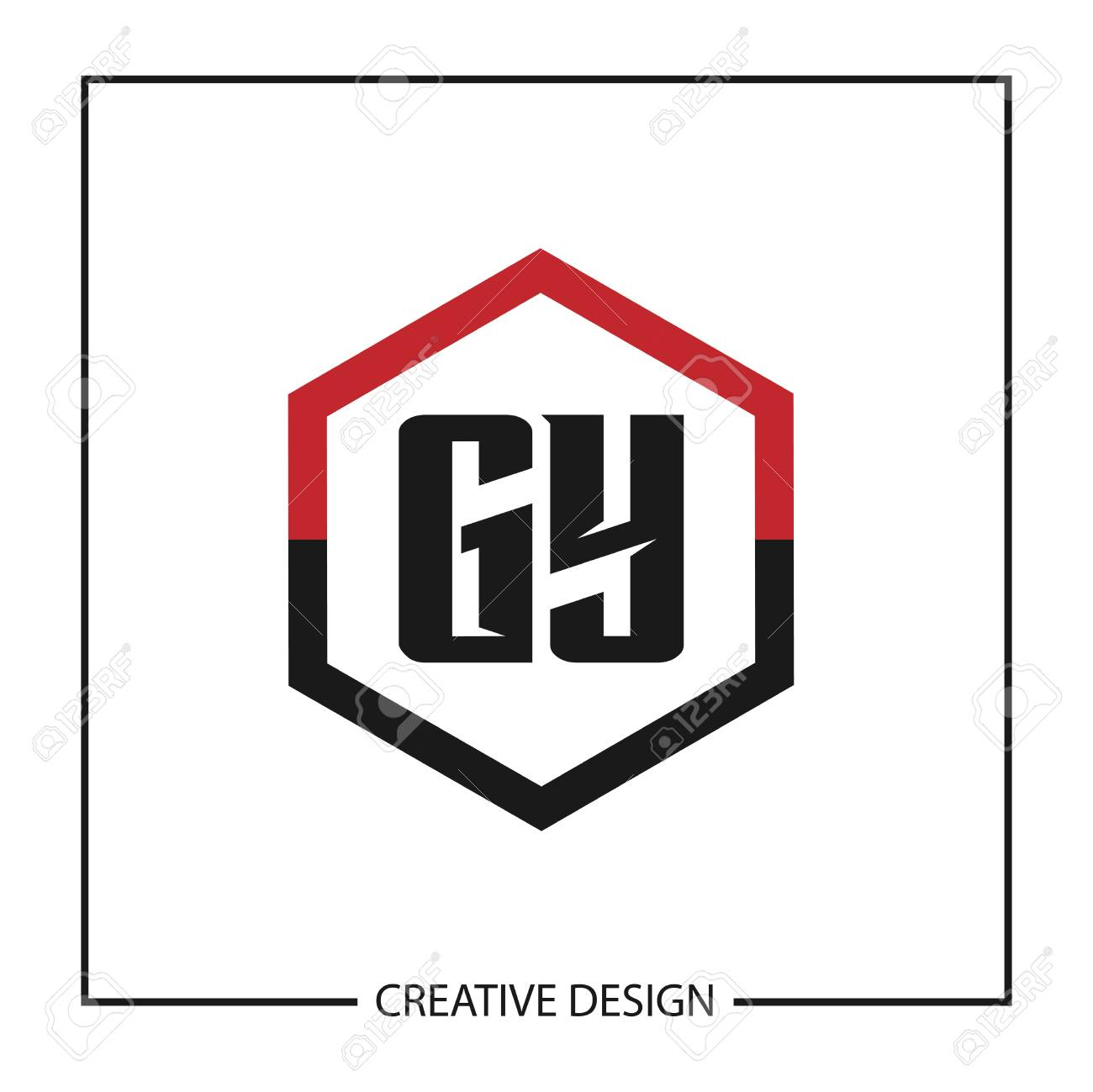 Initial Letter GY Template Design - 125246487