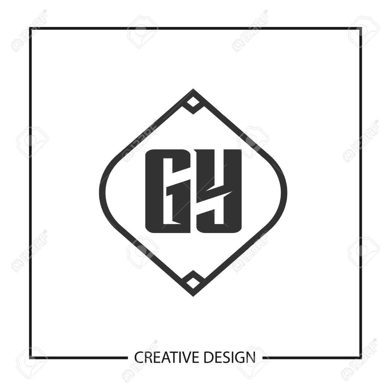 Initial Letter GY Template Design - 125246531