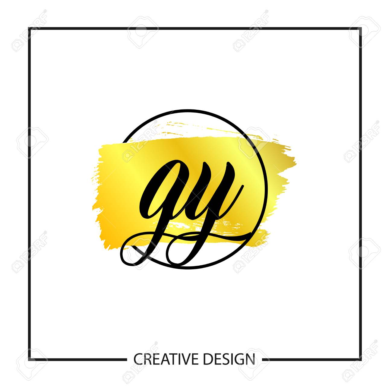 Initial Letter GY Logo Template Design - 112508337