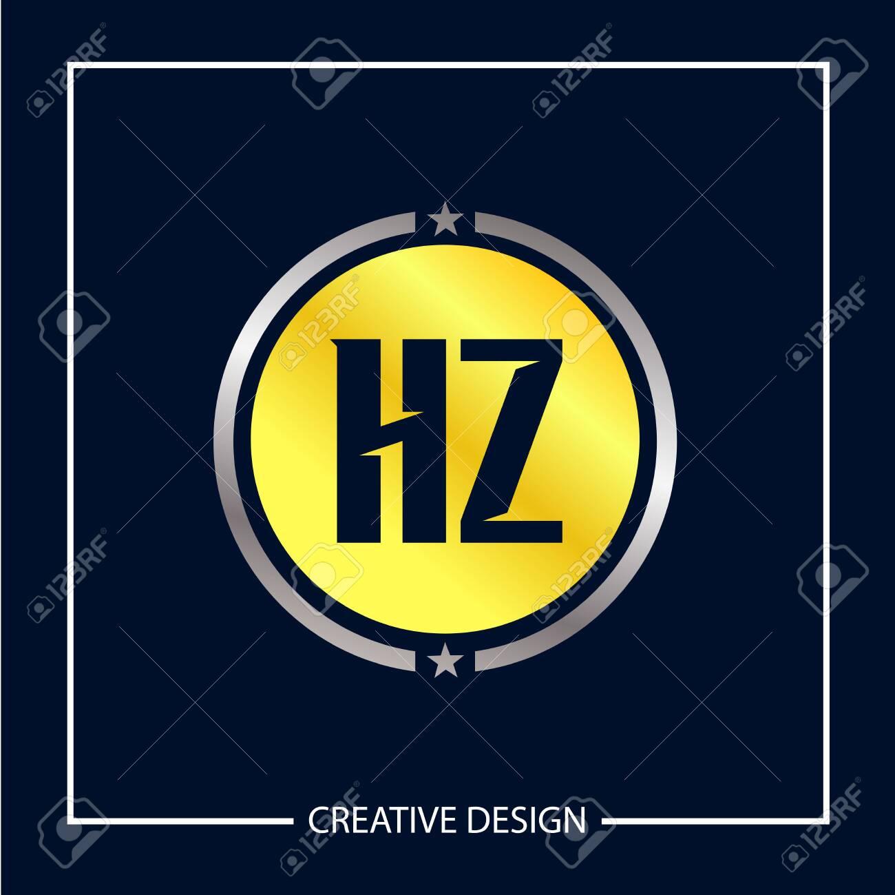 Initial Letter HZ Logo Template Design - 112578647