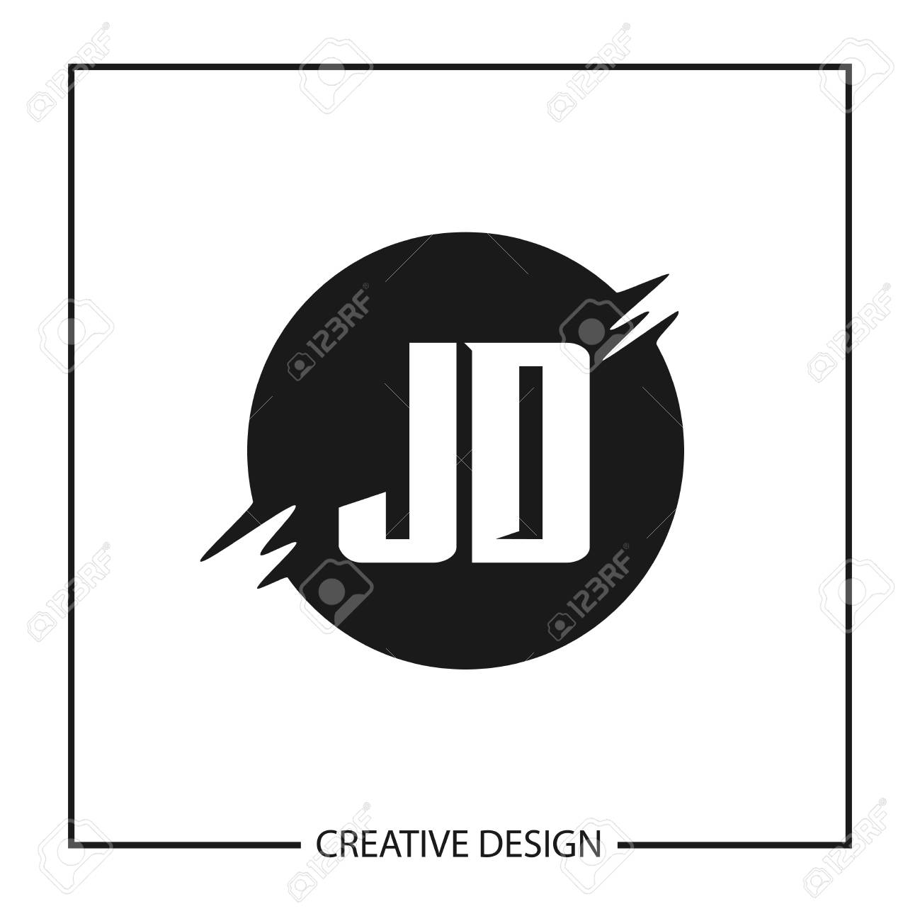 initial letter jd logo template design royalty free cliparts vectors and stock illustration image 112434238 initial letter jd logo template design