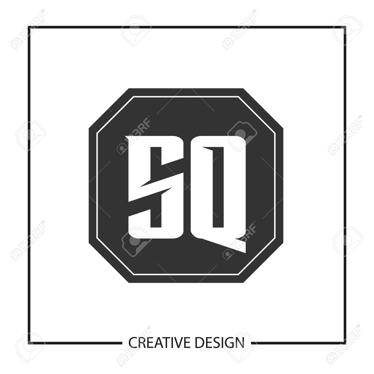 Initial Letter SQ Logo Template Design - 112929244