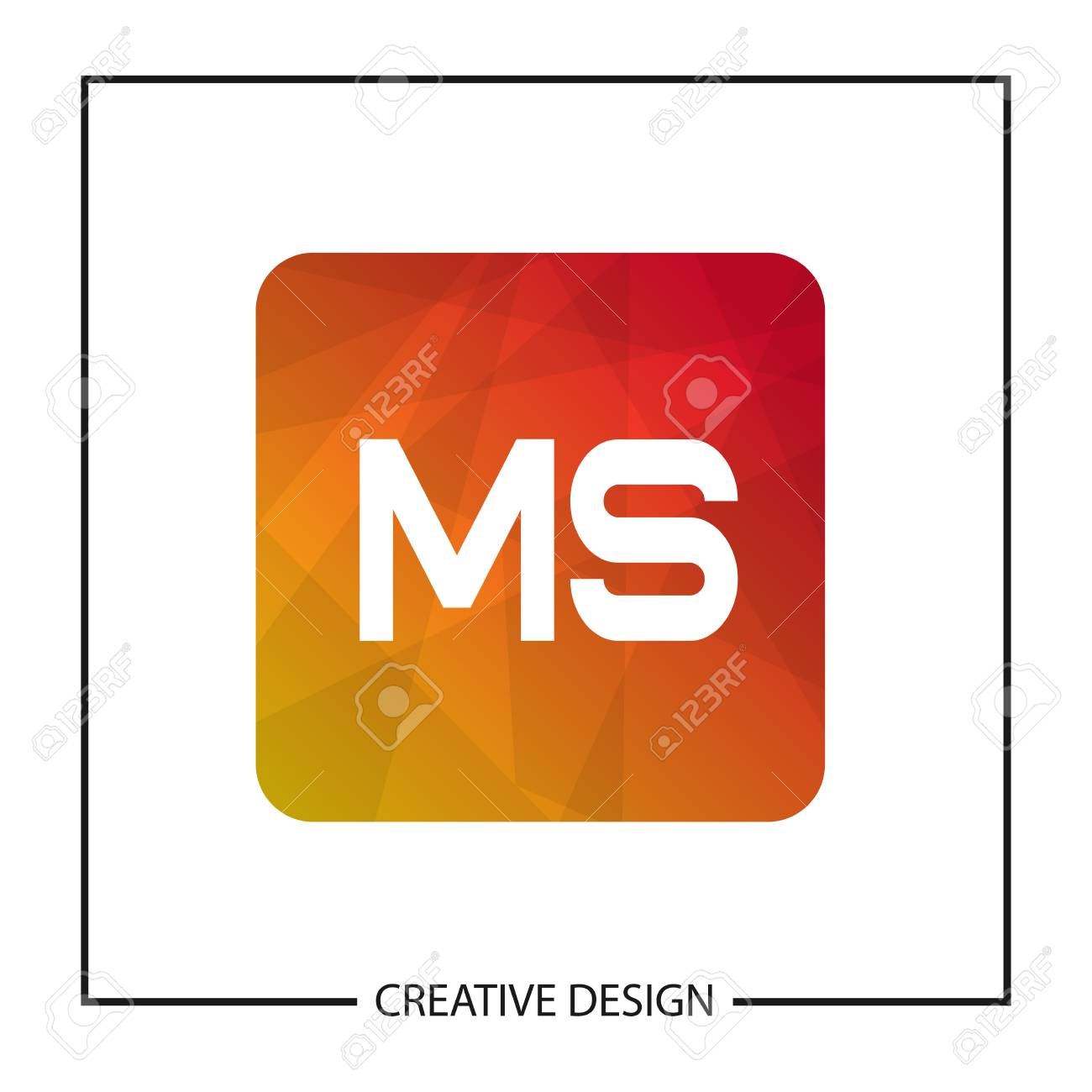 Initial Letter Ms Logo Template Design Vector Illustration Royalty Free Cliparts Vectors And Stock Illustration Image 112997334