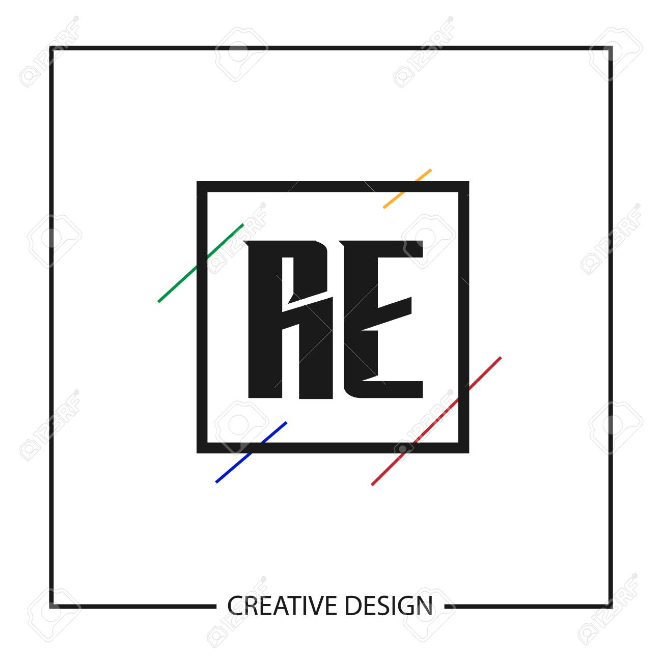 Initial Letter RE Logo Template Design Vector Illustration - 113116665