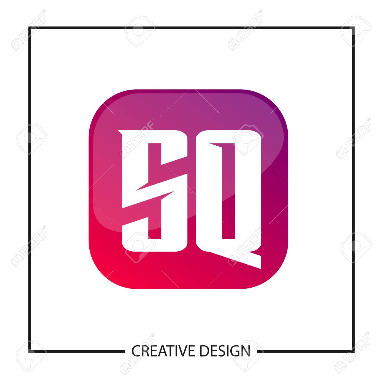 Initial Letter SQ Logo Template Design Vector Illustration - 113111836