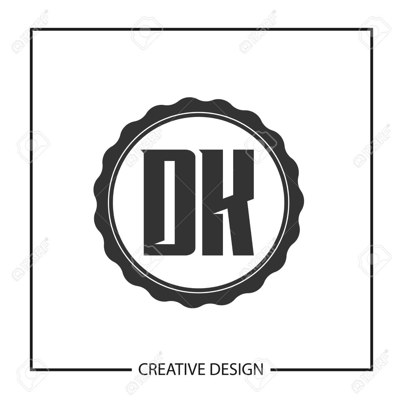 Initial Letter DK Logo Template Design Vector Illustration - 113874104