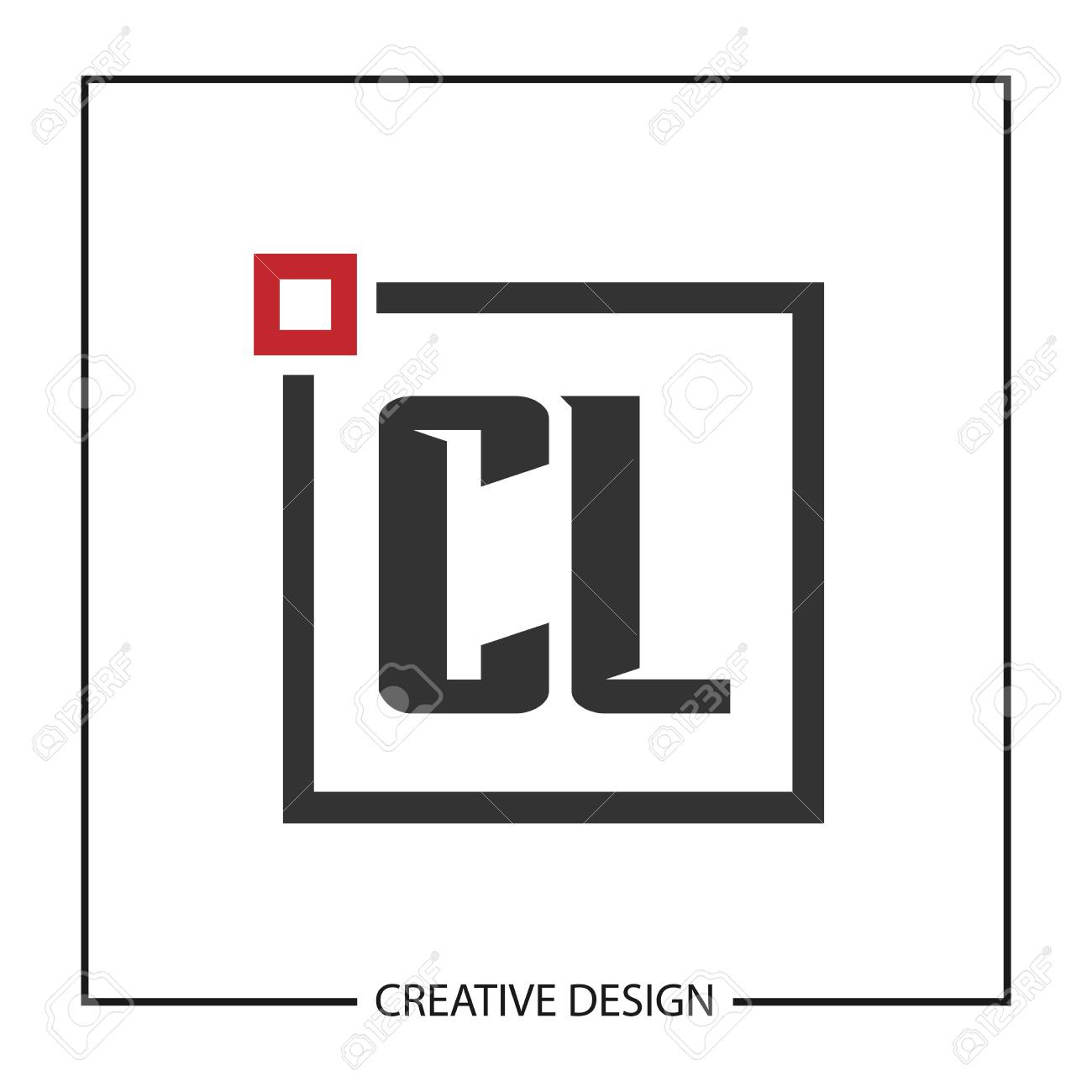 Initial Letter CL Logo Template Design Vector Illustration - 113873295