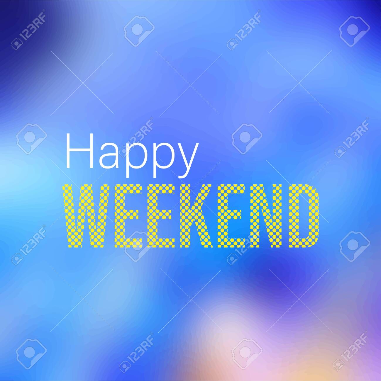 happy weekend Life quote with modern background vector illustration