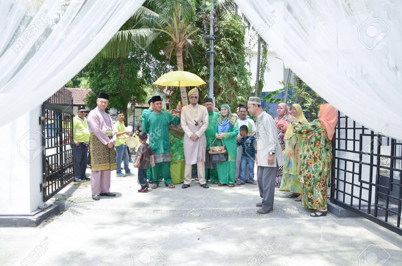 Kuala Lumpur Malaysia 22 Marz 2014 Malaiische Hochzeit Eine Der