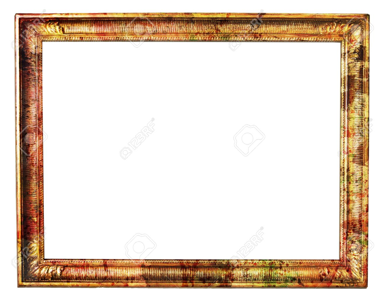 Vintage Blank Frame With Paint Splatters Stock Photo, Picture And ...