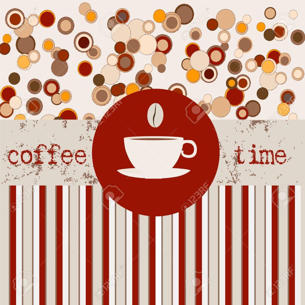 Coffee, design template,copy space Stock Vector - 13414911