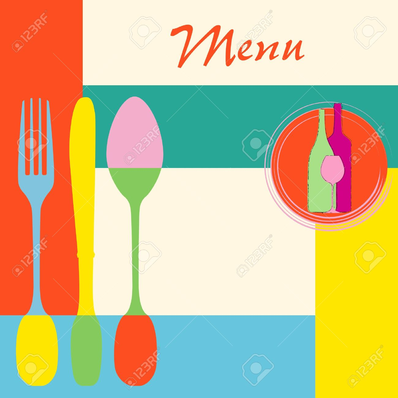 Tarjeta Del Menú Diseño De La Plantilla Para La Ilustración ...