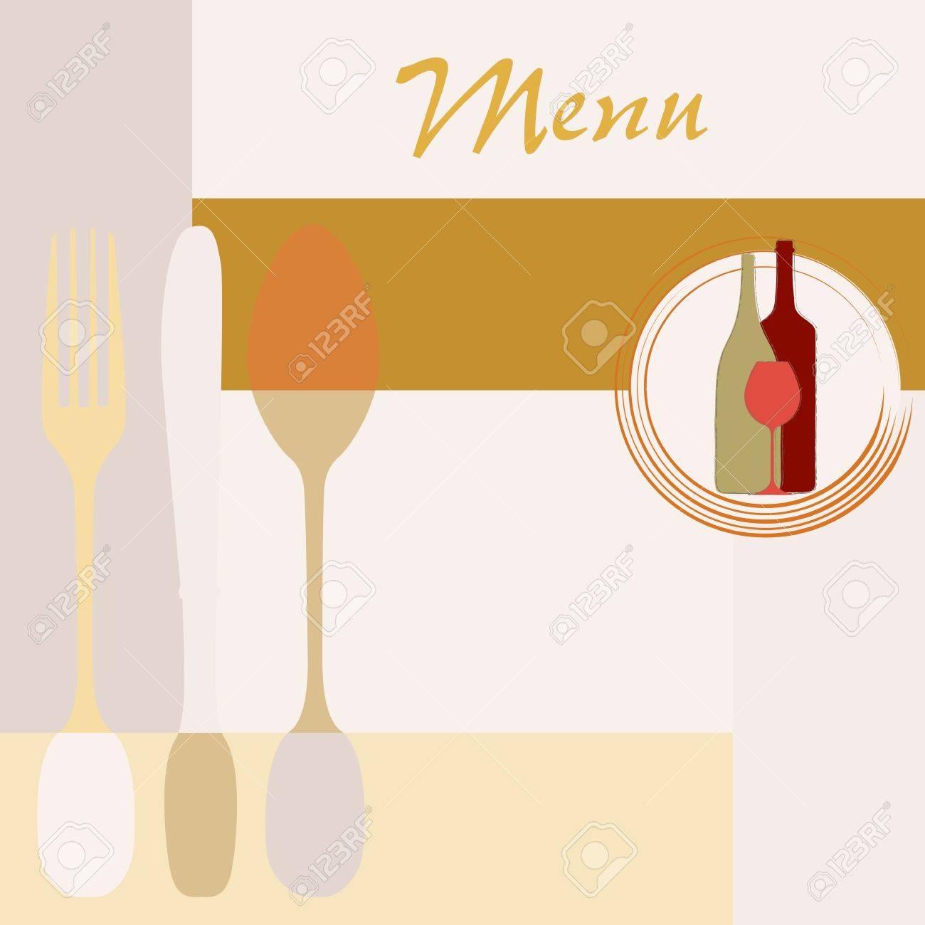 Tarjeta Del Menú Diseño De La Plantilla Para El Espacio De Copia ...
